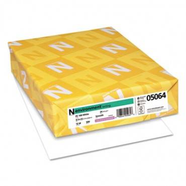 Environment Stationery Paper, 95 Bright, 24 Lb, 8.5 X 11, White, 500/ream