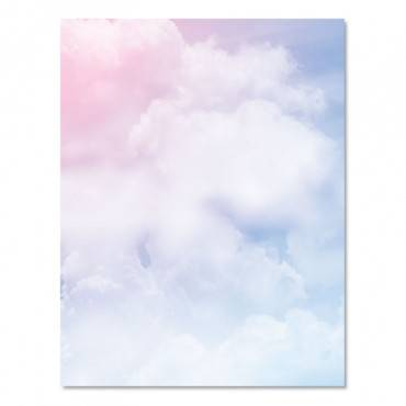 Astrodesigns  PRE-PRINTED PAPER, 28 LB, 8 1/2 X 11, MULTICOLOR, CLOUDS, 100 SHEETS/RM 91252 100 package