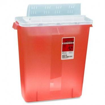 Covidien Transparent Red Sharps Container (EA/EACH)