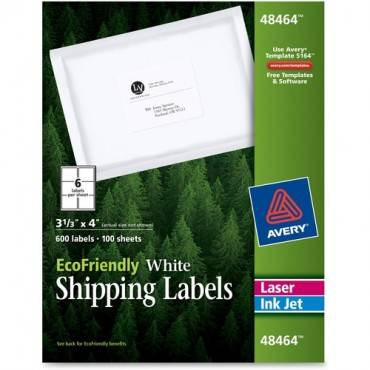 Avery® EcoFriendly Shipping Labels (BX/BOX)