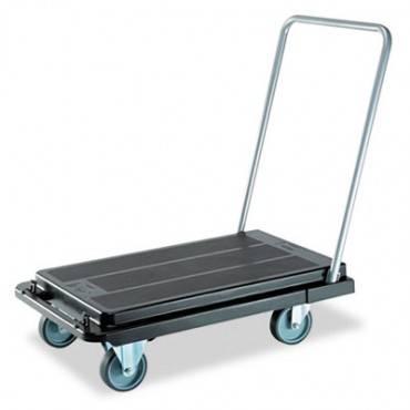 Deflecto  Heavy-Duty Platform Cart, 500 Lb Cap, 21 X 32 1/2 X 37 1/2, Black