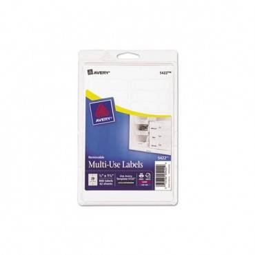 Removable Print-or-write Multi-use Labels, 1/2 X 1 3/4, White, 840/pack