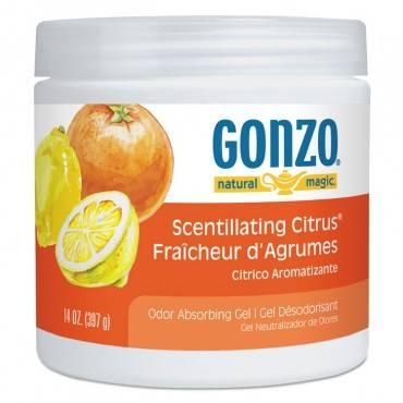 Odor Absorbing Gel, Scentillating Citrus, 14 Oz Jar, 12/carton