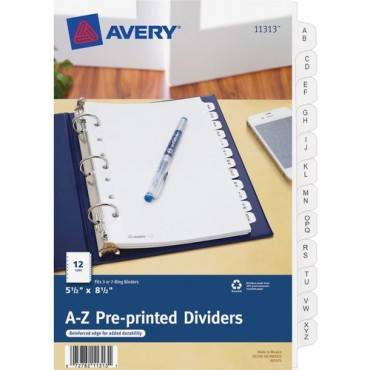 "Avery® 5-1/2"" x 8-1/2"" Mini Pre-printed Tab Dividers (ST/SET)"
