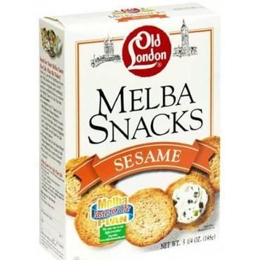Old London - Melba Snacks - Sesame - Case Of 12 - 5.25 Oz.