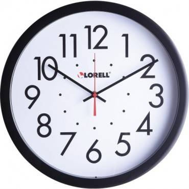 """Lorell 14-1/2"""" Self-Set Wall Clock (EA/EACH)"""