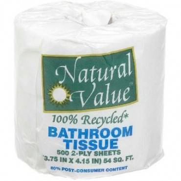 Natural Value Sustainable Bath Tissue - Case Of 48