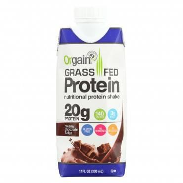 Orgain Organic Protein Shakes - Creamy Chocolate Fudge - Case Of 12 - 11 Fl Oz.