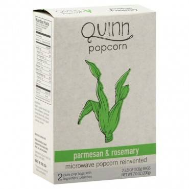 Quinn - Microwave Popcorn - Parmesan And Rosemary - Case Of 6 - 7 Oz.