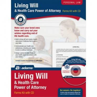 Adams Living Will/Power of Attorney Forms (PK/PACKAGE)