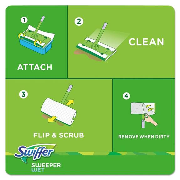 Swiffer Wet Refill Cloths Open Window Fresh Cloth White