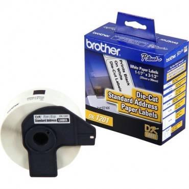 Brother DK1201 - Standard Address White Paper Labels (RL/ROLL)
