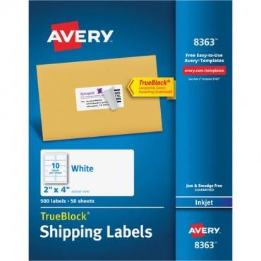 Avery® Shipping Labels with TrueBlock Technology (BX/BOX)
