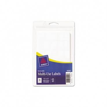 Removable Handwrite-only Multi-use Labels, 5/8 X 7/8, White, 1050/pack
