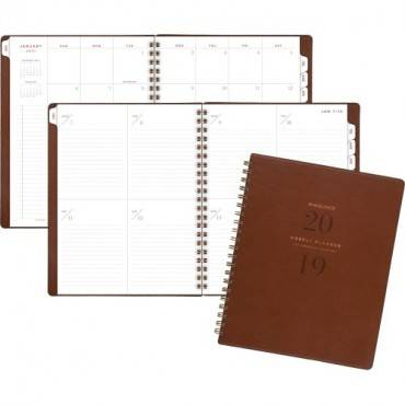 At-A-Glance Signature Collection Weekly/Monthly Planner, Gray (EA/EACH)