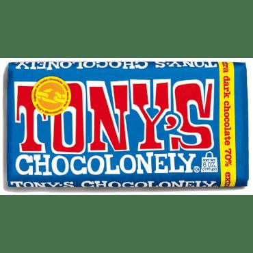 Tony's Chocolonely Bar - Extra Dark Chocolate - Case of 15 - 6 oz.