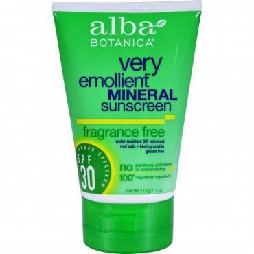 Alba Botanica - Sunscreen - Alba Sun Min Spf 30 F.free 4oz. - Case Of 1 - 4 Fl Oz.