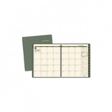 Recycled Monthly Planner, 11 X 8.88, Green, 2020-2021