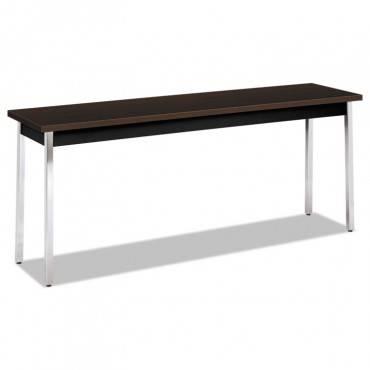 Utility Table, Rectangular, 72w X 18d X 29h, Mocha/black