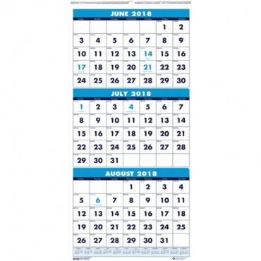 House of Doolittle Three-month Horizontal Wall Calendar (EA/EACH)