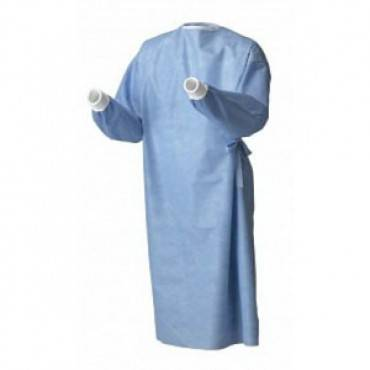 Standard Sterile-Back Surgical Gown, Large, Disposable (20/Case)