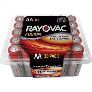Rayovac Fusion Premium Alkaline AA Batteries Pack (PK/PACKAGE)