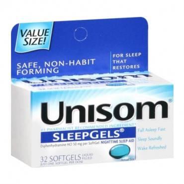 Unisom Sleepgels, Maximum Strength, 32 Count Part No. 0-41167-00133 (1/ea)