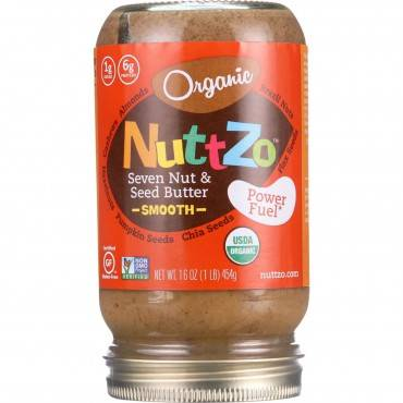 NuttZo Spread - Organic - Seven Nut and Seed Butter - Creamy - Peanut Free - 16 oz - case of 6