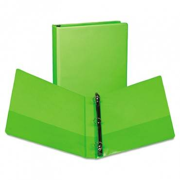 """Earth's Choice Biobased Durable Fashion View Binder, 3 Rings, 1"""" Capacity, 11 X 8.5, Lime, 2/pack"""