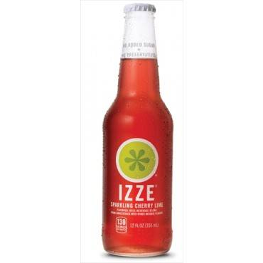 Izze Sparkling Juice - Cherry Lime - Case of 6 - 12 Fl oz.
