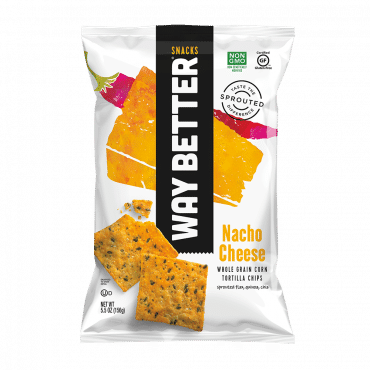 Way Better Snacks Tortilla Chips - Nacho Cheese - Case Of 12 - 5.5 Oz.