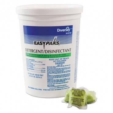 Detergent/disinfectant, Lemon Scent, .5oz, Packet, 90/tub, 2 Tubs/carton