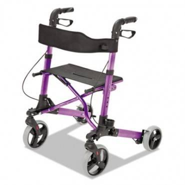 "Healthsmart  Gateway Aluminum Rollator, Purple, 31""-36""h, 300 Lb Capacity"