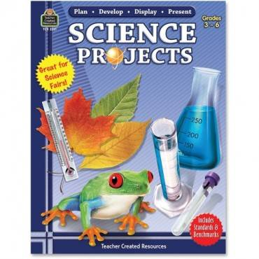 Teacher Created Resources Gr 3-6 Science Projects Book Education Printed Book for Science (EA/EACH)