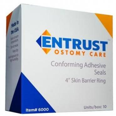 "Entrust Ostomy Skin Barrier Ring 4"" Part No. 6000 (10/box)"
