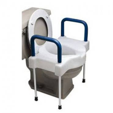 Ableware Tall-ette Extra Wide Toilet Seat With Steel Frame Part No. 725882000 (1/ea)