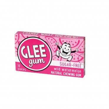Glee Gum Chewing Gum - Wild Watermelon - Sugar Free - Case Of 12 - 16 Pieces