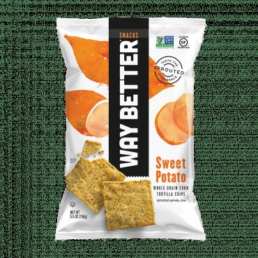 Way Better Snacks Tortilla Chips - Sweet Potato - Case Of 12 - 5.5 Oz.