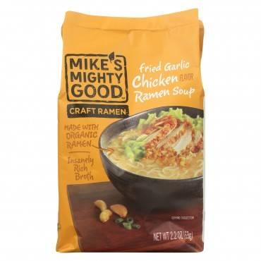 Mike's Mighty Good Soup - Organic - Ramen - Garlic Chicken - Case of 7 - 2.2 oz