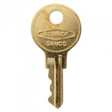 Bobrick Cat 74 Key For Towel Dispensers, Metal Key