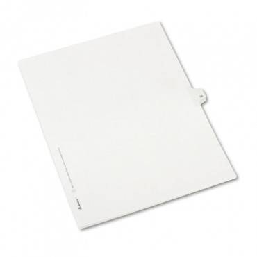 Preprinted Legal Exhibit Side Tab Index Dividers, Allstate Style, 10-tab, 38, 11 X 8.5, White, 25/pack