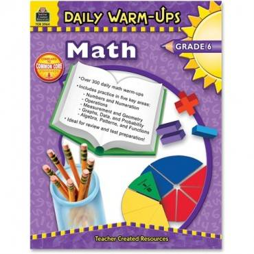 Teacher Created Resources Gr 6 Math Daily Warm-Ups Book Education Printed Book for Mathematics (EA/EACH)