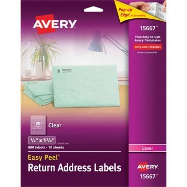 Avery Easy Peel Return Address Label (PK/PACKAGE)