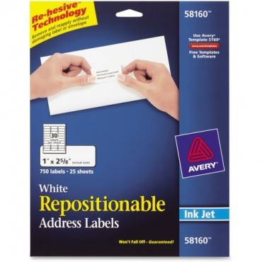 Avery® Repositionable Mailing Labels (PK/PACKAGE)