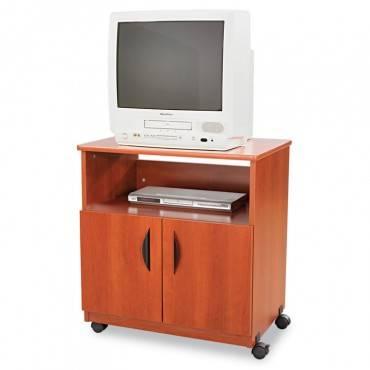 Safco  Laminate Machine Stand W/Open Compartment, 28w X 19-3/4d X 30-1/2h, Cherry
