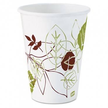 Pathways Paper Hot Cups, 12oz, 1000/carton