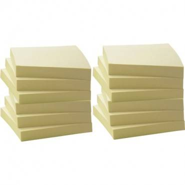Business Source Yellow Adhesive Notes (PK/PACKAGE)