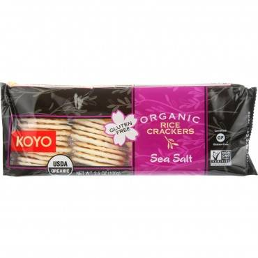 Koyo Rice Crackers - Organic - Sea Salt - 3.5 Oz - Case Of 12
