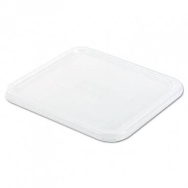 Rubbermaid  Commercial Spacesaver Square Container Lids, 8 4/5w X 8 3/4d, White