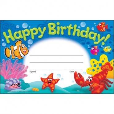 Trend Happy Birthday Sea Buddies Awards (PK/PACKAGE)